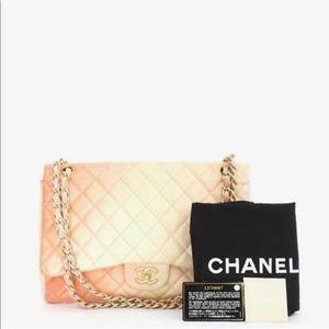 Authentic Chanel degrade maxi flap bag *rare*